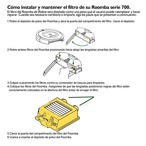 efluky Kit cepillos repuestos de Accesorios para iRobot Roomba Serie 700  un conjunto de 13