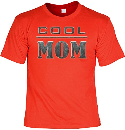 Mama-Spaß/Fun-Shirt Rubrik lustige Sprüche: Cool MOM - witziges Geschenk Rot