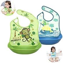 Baberos de Bebé, Doble Capa a Prueba de Agua Cómodo Suave Baberos de Bebé Fácilmente