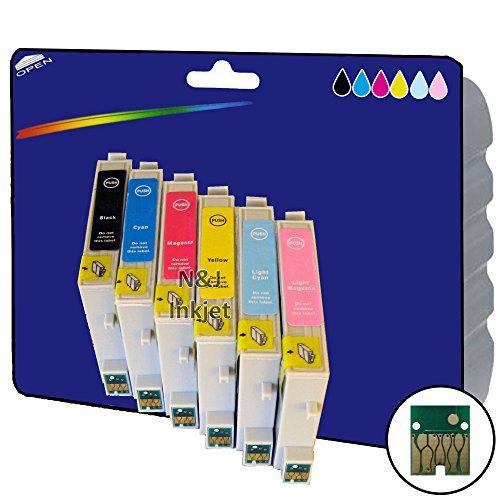 1Set nicht original-Ersatzteile XL Tintenpatronen für Epson Stylus Photo R200, R220, R300, R300M, R320, R340, RX500, RX600, RX620, RX640–Core-Tekk nicht-OEM kompatibel - Rx620 Inkjet-drucker
