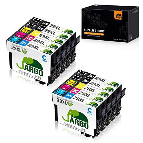 JARBO Remplacer pour Epson 29XL Cartouches d'encre Compatible avec Epson Expression Home XP-255 XP-235 XP-352 XP-435 XP-332 XP-345 XP-257 XP-335 XP-245 XP-342 XP-247 XP-432 XP-455 XP-452, 10 Packs