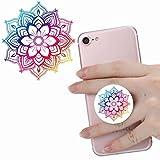 Multifunzione Pop Stand Phone Holder socket Universale portadocumenti con Supporto e Auto il Cellulare Accessori Per Cellulare Altri Smartphone Tablets impugnatura rosa bianco fiore Datura