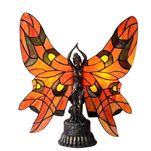 DELICATO T Lampadina vetroresina E14 * 2 No Light farfalla di colore Studio comodino camera da letto Arredi Girlfriend Amore 44 cm * 46 cm della luce di notte della lampada da tavolo a LED