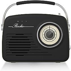 Akai R100BE - Radio vintage, color negro