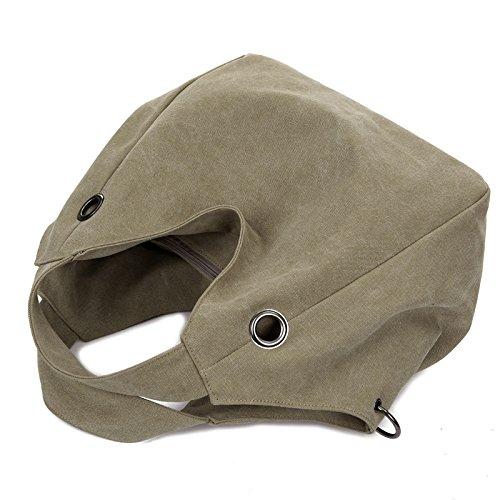 Mode Handtasche für Frauen �?Leinwand Lässige Tasche mit Große Kapazität - Fuchsie Khaki
