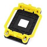 sourcingmap® Schwarz gelb Plastik AMD Aufbewahung Bracket Lüfterhalterung Sockel für AM2 AM3