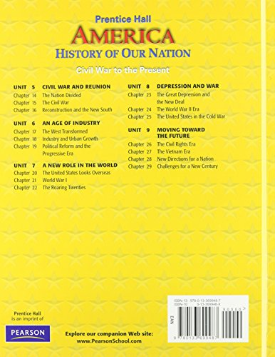 America: History of Our Nation Survey Student Edition 2007c
