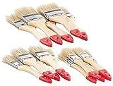 AGT Pinsel: 15-teiliges Flachpinsel-Set mit Holzstielen und Naturborsten, 3 Größen (Pinselsatz)