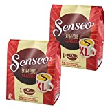 Senseo Kaffeepads Extra Long Classic XL, Reiches Aroma, Vollmundig & Ausgewogen, Kaffee für Kaffepadmaschinen, 40 Pads