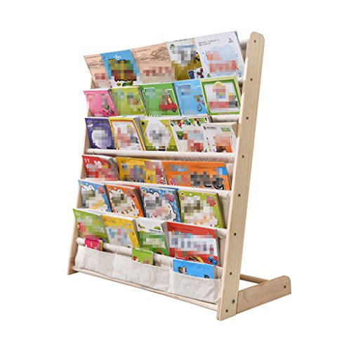 Li Li Na Shop Bücherregale Kinder Bücherregal Massivholz einfache Kindergarten Cartoon Schüler sparen Platz multifunktionale Boden Bücherregal Baby Bücherregal Storage Bücherregal (Size : 75cm) - Massivholz Bücherregal
