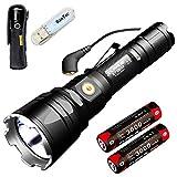 Klarus XT12GT Tactical Taschenlampe CREE LED XHP35 HI D4 1600 Lumen Taschenlampe Magnetic Charging Verlängert Reichweite 603 Meters mit 2* 3600 mAh Akku und BanTac USB Lampe