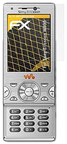 Sony-Ericsson W995 Displayschutzfolie - 3 x atFoliX FX-Antireflex blendfreie Folie Schutzfolie