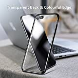 TORRAS iPhone 8 Case, iPhone 7 Case, Ultra Thin Slim Crystal Clear Case Stylish Edge Soft Flexible Silicone Gel TPU Bumper Case Cover Compatible iPhone 7/ iPhone 8 - Black
