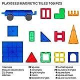 Playbees-100-pices-Blocs-Construction-Magntiques-Couleurs-Vives-3D-Jeu-Magntique-Jeux-de-Construction-Durable-pour-le-Dveloppement-ducatif-et-Cratif-de-Limagination-100-pcs
