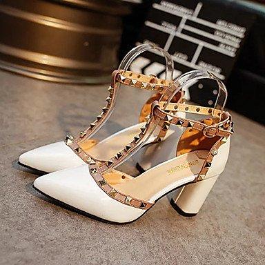 LFNLYX Donna Autunno tacchi Comfort Casual scamosciato Stiletto Heel Plaid Silver Gold Peach passeggiate White