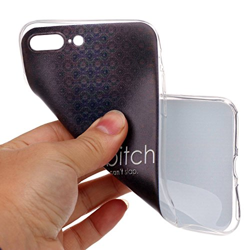 Qiaogle Téléphone Coque - Soft TPU Silicone Housse Coque Etui Case Cover pour Apple iPhone 7 (4.7 Pouce) - LF09 / Smile LF02 / life is a bitch