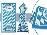 1qm Bayern für Liebhaber - Liegetuch in einer Einheitsgröße von ca. 70 x 150 cm - traditionell bayerisches Design in blau/weiß