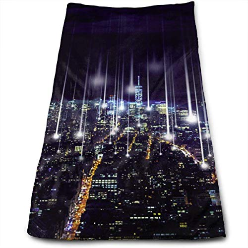 Decorative Towels City of Lights Microfiber Sports Travel Towel Soft Fast Dry for Beach Yoga Camping Outdoor, 27.5