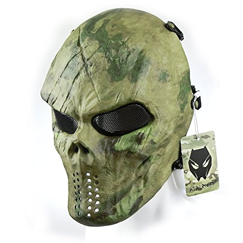 ATAIRSOFT Tactical Schützende Paintball Airsoft Kunststoff Hockey Cosplay Böse Half Face Maske ATFG