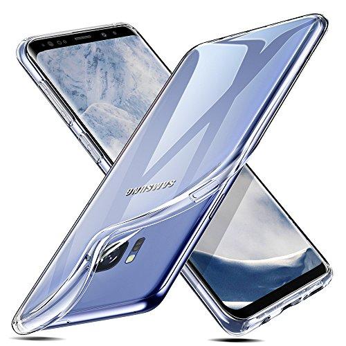 ESR Samsung Galaxy S8 Hülle, Transparent Weiche Silikon [0.8mm Ultradünnen] Durchsichtig TPU Kratzfest Schutzhülle für Samsung Galaxy S8 (Klar)