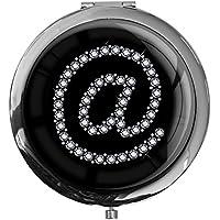 """metALUm - Extragroße Pillendose in runder Form""""At Symbol in Silber"""" preisvergleich bei billige-tabletten.eu"""