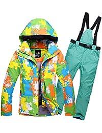 Traje de esquí Chaqueta de esquí Pantalón de esquí Conjunto de Chaqueta de Nieve Abrigo Impermeable, frío, a Prueba de Viento y cálido de una y Doble Tabla de Gran tamaño