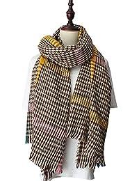IWG 100% laine femmes écharpe Plaid hiver chaud écharpes de mode en tricot  pour les d6574fc275b