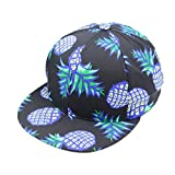 Casquette Baseball,OverDose Femmes Casquette Youth Ananas Hat Ajustable Hip-Hop Snapback Cap (B)
