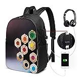 Zaino Antifurto Con Porta USB Matite colorate per artisti Zaino per PC Computer Portatile 17 Pollici Zaino per Laptop Da Uomo Donna per Scuola Business Viaggio