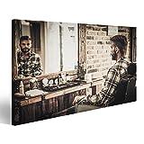 islandburner, Quadro moderno Uomo elegante in un negozio di barbiere Stampa su tela - Quadri moderni x poltrone salotto c Stampa su tela - Quadri moderni KUC-1K-IT4