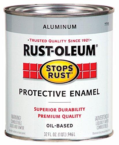 Rustoleum 1 Quart Aluminum Protective Enamel Oil Base Paint 7715-502