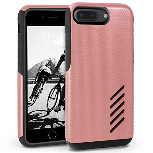 iPhone 8 Plus Hülle, Orzly® Grip-Pro Case für das iPhone 8 Plus / iPhone 7 Plus (5.5 ZOLL Version) – Langlebige & superleichte Schutzhülle / Handyhülle mit zwei getrennten Schichten für besseren Halt  ROSÉGOLD GripPro für iPhone 7 PLUS