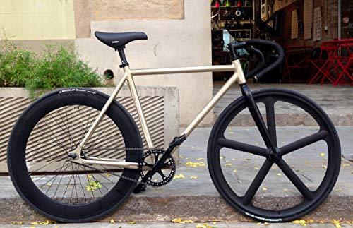 MOWHEEL Bicicleta Monomarcha Fixie/Single Speed Raw