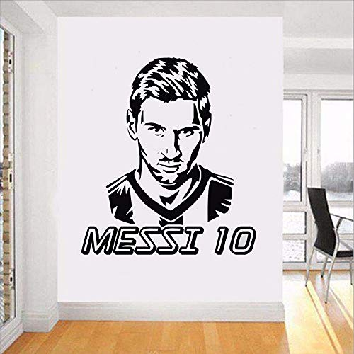 Preisvergleich Produktbild Wwddp Messi Art Vinyl Wandaufkleber Für Kinderzimmer Fc Football Player Entfernen Aufkleber Wohnzimmer Schlafzimmer Dekoration Poster 42 * 59 Cm