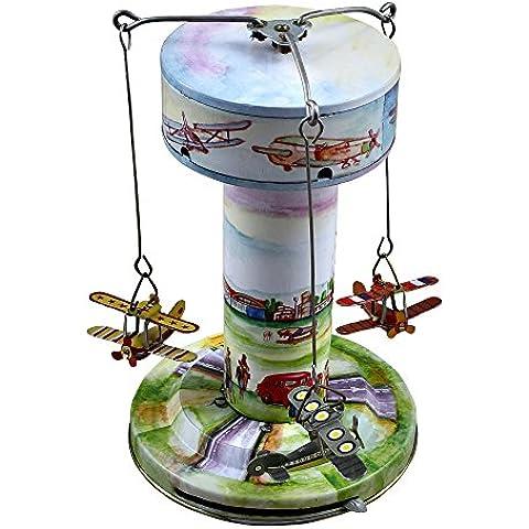 Antique Wind-up giocattoli aeroporto carosello serie giocattolo