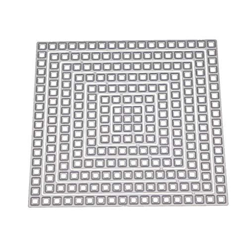 Pigup DIY Blumen-Gitter-Form-Metallschneideisen Papier-Foto-Karte Cut Dekorative Craft Stencils Mold -