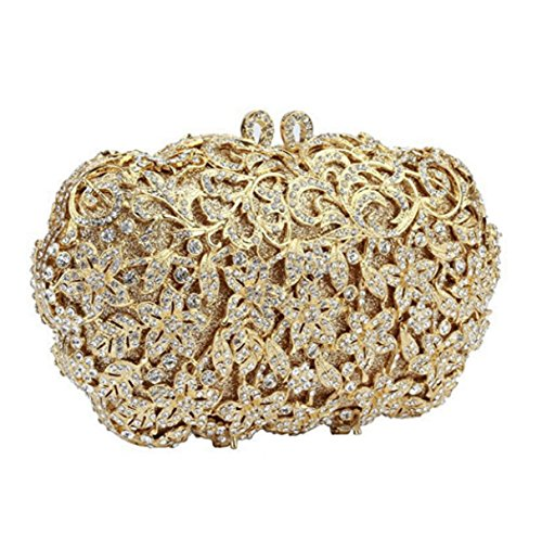 Lady Clutch Abendtasche Retro-Luxus-Diamant-Handtasche Yellow