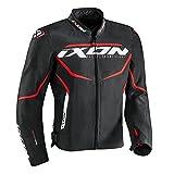 IXON Blouson Moto Sprinter, Noir/Rouge, Taille M