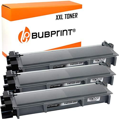 Bubprint 3 Toner XXL compatibile per Brother TN 2320 TN-2310per DCP-L 2500D DCP-L2520DW DCP-L2540DN HL-L2300D MFC L 2700DW MFC L2740DW DCP-L2520DW