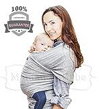 Maman et Bebe Baby Wrap Carrier–PREMIUM CALIDAD Super Comfy 5-in-1Sling–uso desde el nacimiento a Toddler–mantiene al bebé cerca y acogedor–seguro y elegante