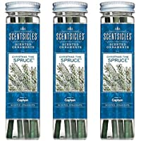 ScentSicles Scented Ornaments Hanging Christmas Tree Decorations Xmas Festive Scent Sticks - Spruce (3 Tubes)