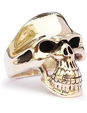 Bronze Phantom Streetfighter Totenkopf Ring -Ghost Rider Biker Ring Alle Größe