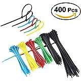 NUOLUX Colliers Nylon Attache Cable 15,20 et 30.5cm 400 Pièces Anti-Ultraviolet