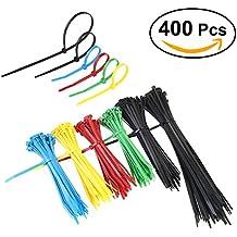 NUOLUX Brida Organizar Cables Nylon 15,20 y 30.5cm 400 Unidades Anti-Utravioleta