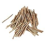 WINOMO 100pcs Holzblock Sticks für DIY Handwerk 10CM lang 0,5-0,8 CM im Durchmesser (Holzfarbe)