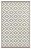 Green Decore Grün Deko-wendbar-leicht Kunststoff Teppich Nirvana taupe \ weiß, 4X 6FT (120x 180cm), taupe/weiß