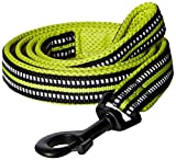 #1: PetsUp Stylish Dog Leash for Small Medium Large Dogs (1.5cm Wide 110cm Long, Reflective Leash- Green)