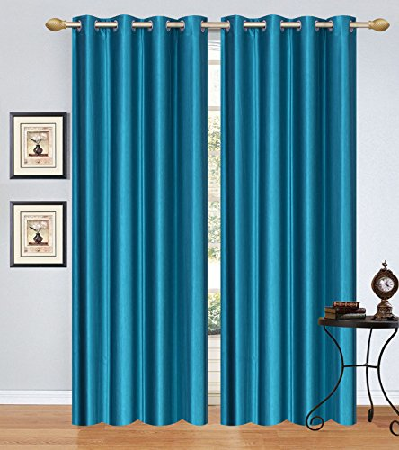 Fresh From Loom Plain Door Curtain - 4 Piece