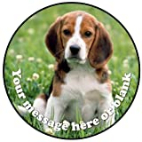 Kuchendekoration, rund, 7,5 Zoll (oder kleiner auf Anfrage) für Zuckerguss, Beagle Dog