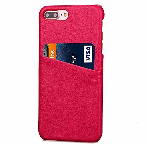 iPhone Case Cover Housse IPhone 7 Plus Housse Pour Affaires PC + Housse En Cuir Avec Slot Pour Carte Pour Apple IPhone 7 Plus 5.5 Pouces ( Color : 5 , Size : IPhone 7 Plus ) 5